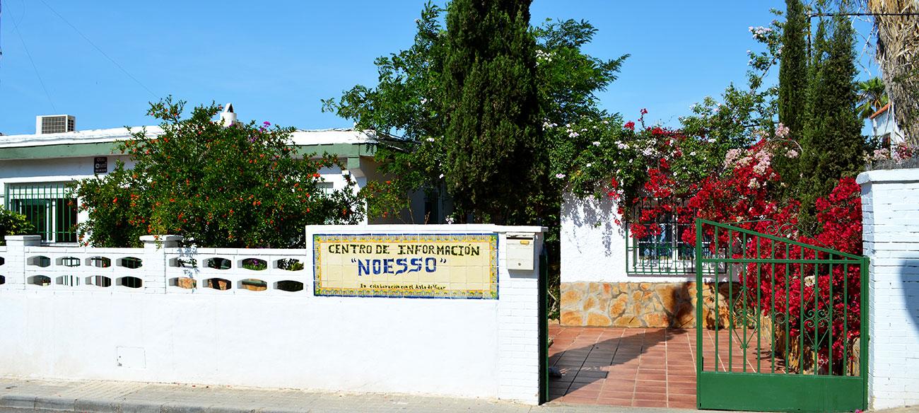 Entrada centro de información Noesso