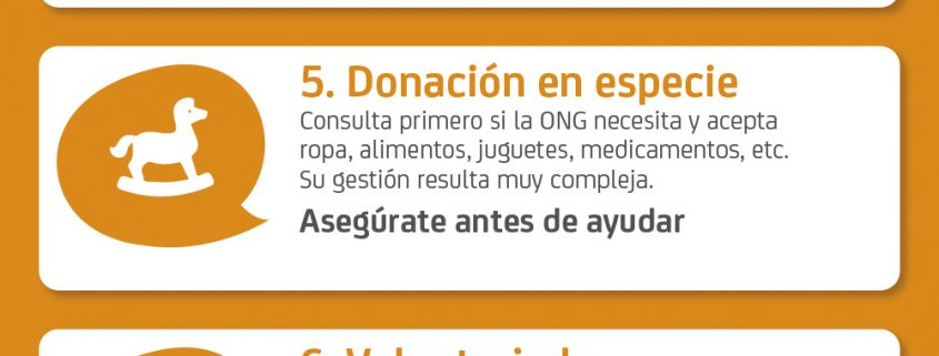 10 Consejos para donar ONG